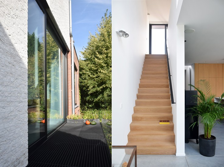 Woningen nieuwbouw ben rijwoning s3architecten mechelen for Moderne rijwoning
