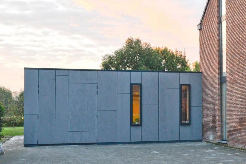 Uitbreiding woning met gevelbeplating te Grembergen 01