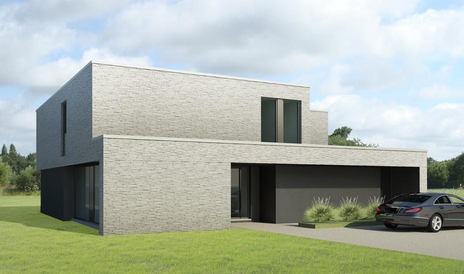 S3A villa in grijze gevelsteen 01