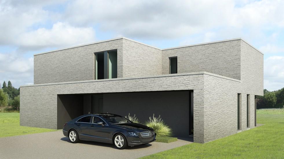 S3A villa in grijze gevelsteen 02