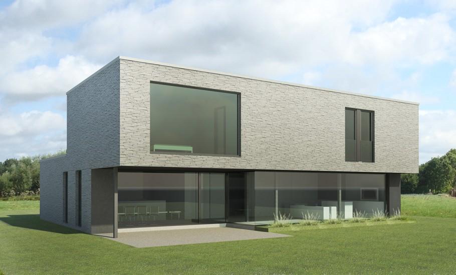 S3A villa in grijze gevelsteen 03