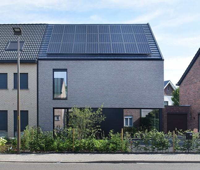 S3A villa in grijze gevelsteen Mechelen 07