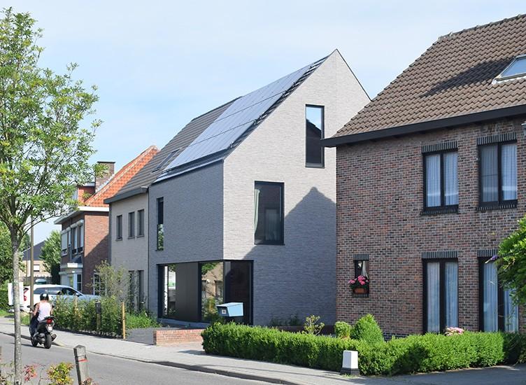 S3A villa in grijze gevelsteen Mechelen 10