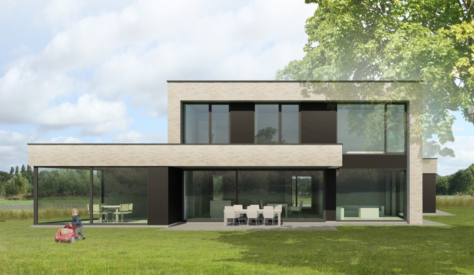 S3A_moderne woning lichte gevelsteen_Rijmenam_02