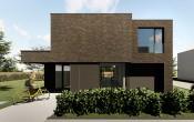 S3A_moderne woning donkere gevelsteen_Willebroek_01
