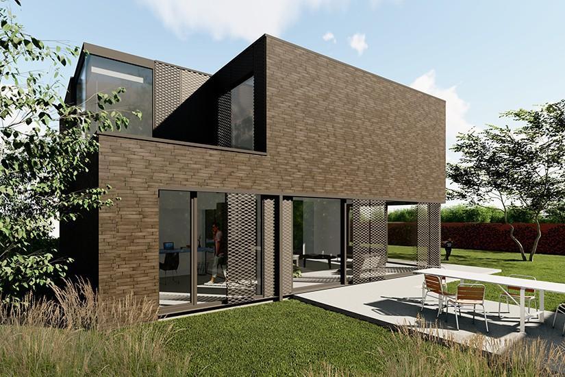 S3A_moderne woning donkere gevelsteen_Willebroek_02