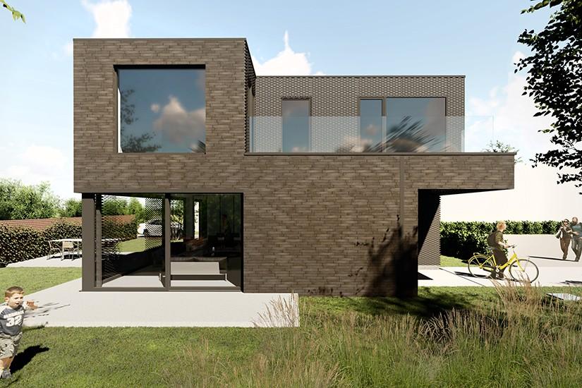 S3A_moderne woning donkere gevelsteen_Willebroek_04