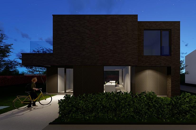 S3A_moderne woning donkere gevelsteen_Willebroek_05