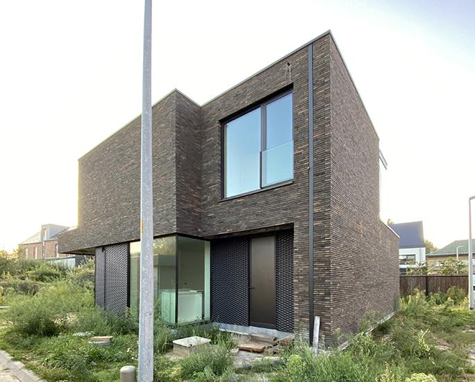 S3A_moderne woning donkere gevelsteen_Willebroek_11
