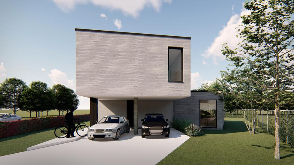 S3A_vrijstaande woning lichtgrijze genuanceerde gevelsteen 02